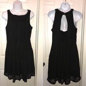 Sexy little black dress.